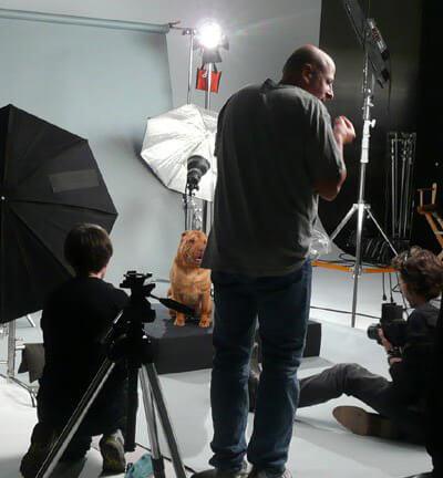 Joel Silverman On The Set On IAMS Commercial